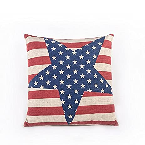Amazon American Flag The Stars And The Stripes Cotton Linen Classy American Flag Decorative Throw Pillow