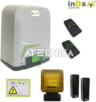 Indem - Kit de puerta corredera Vivo 424, 24 V, 400 kg, uso intensivo: Amazon.es: Deportes y aire libre