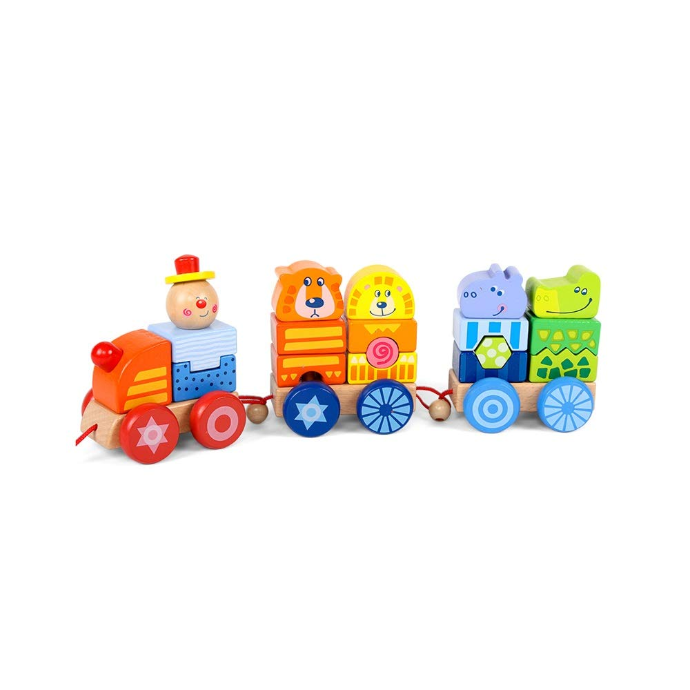 Alapet Circus Train 12346 Years Old Baby Intellectual Development Toy Boy Girl Big Particles Assembled Train Hand Eye Coordination Training Holiday Birthday Gift
