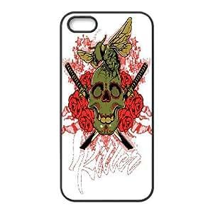 Iphone 5,5S Skull Phone Back Case Art Print Design Hard Shell Protection TY074253
