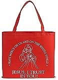 Recycled Nylon, Devine Mercy Tote Bag, 14 1⁄2 x 13'' H, 12pk.
