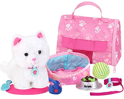 (Sophia's 18 Inch Doll Sized Pet Cat with Carrier, Bed and Accessories 10 Piece Set 6