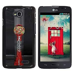 For LG Optimus L70 / LS620 / D325 / MS323 Case , Art Blood Cells Colorful - Diseño Patrón Teléfono Caso Cubierta Case Bumper Duro Protección Case Cover Funda