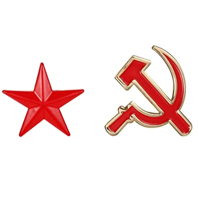 Amazon Soviet Cccp Hammer Sickle Socialist Red Star Pin