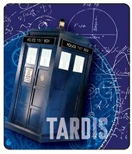 50x60 Raschel Throw Micro Blanket (Doctor Who Who Gears Tardis Throw Blanket, 50x60, Blue)