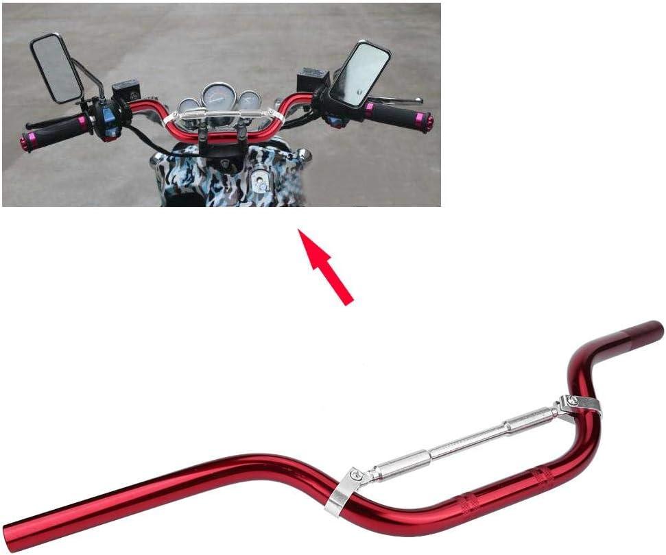Noir rouge et ruban 1 PC de guidon en m/étal pour moto Couleur : Argent Drag Bar 7//822mm pour Pit Dirt Bike. Drag Bar