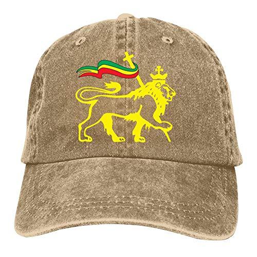 SsSEYYA Rasta Lion of Judah Retro Unisex Denim Baseball Caps Street Basketball Adjustable Cotton Dad Hat Natural (Sonnenbrille Trendy)