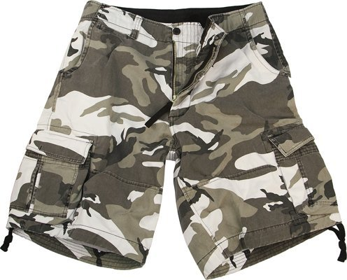 Rothco Vintage Infantry Shorts, City Camo, Medium ()