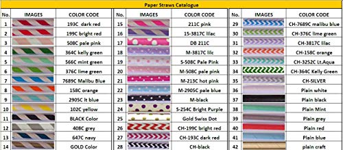 Free DHL Shipping Choose Your Colors 10000 Paper Straws Wholesale,Colored Red Blue Green Black Purple Yellow Pink Grey Gold Silver Paper Drinking Straws Bulk by Kids Party Pro (Image #1)