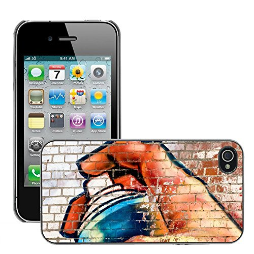 Premio Sottile Slim Cassa Custodia Case Cover Shell // V00002370 Graffiti // Apple iPhone 4 4S 4G