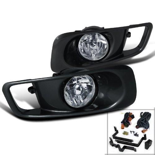 Spec-D Tuning LF-CV99OEM Honda Civic Ex Dx Lx Clear Oem Style Fog Lights, Switch, Relay