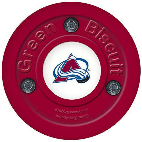 fan products of Green Biscuit Original Passing and Stick Handling Hockey Puck (Avalanche)