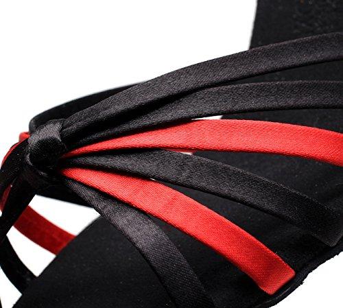 Sandals Jazz fr6 Dans Eu40 Modernes 5 Bal Salsa La Jshoe Chaussures Latine Samba Pour Femmes Our41 5cm De Noirs7 Chacha Talons Danse Tango Salle nxfRqwva