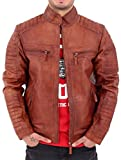 Aviatrix Mens Boys Zip Biker Wilder Nevada Timber Baseball College Bomber Jacket (XL, Nevada Timber)