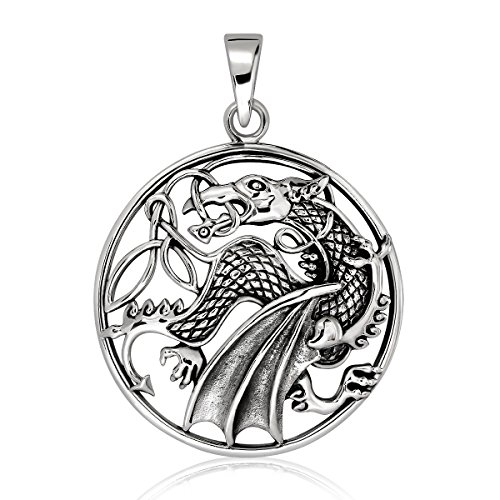 WithLoveSilver Sterling Silver 925 Dragon Pendant