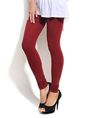 Womens Maroon Leggings