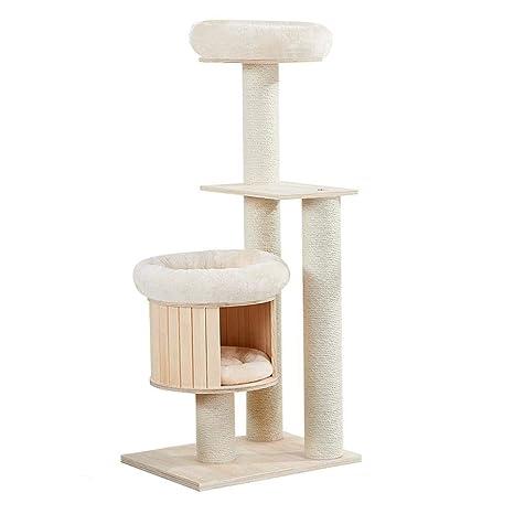 Axiba Árbol para Gatos,Juegos de Gato Escalada Cat de árbol casa sisal Columna Multicapa