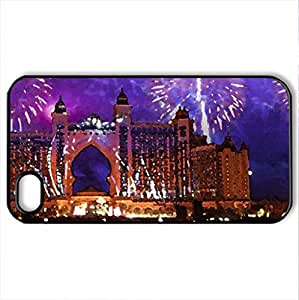 Dubai Infernale - Case Cover for iPhone 4 and 4s (Houses Series, Watercolor style, Black)