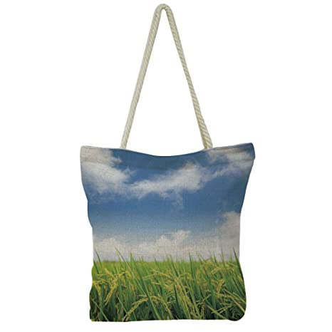 Amazon com : iPrint Hand Cotton and Linen Bag Shoulder Bag