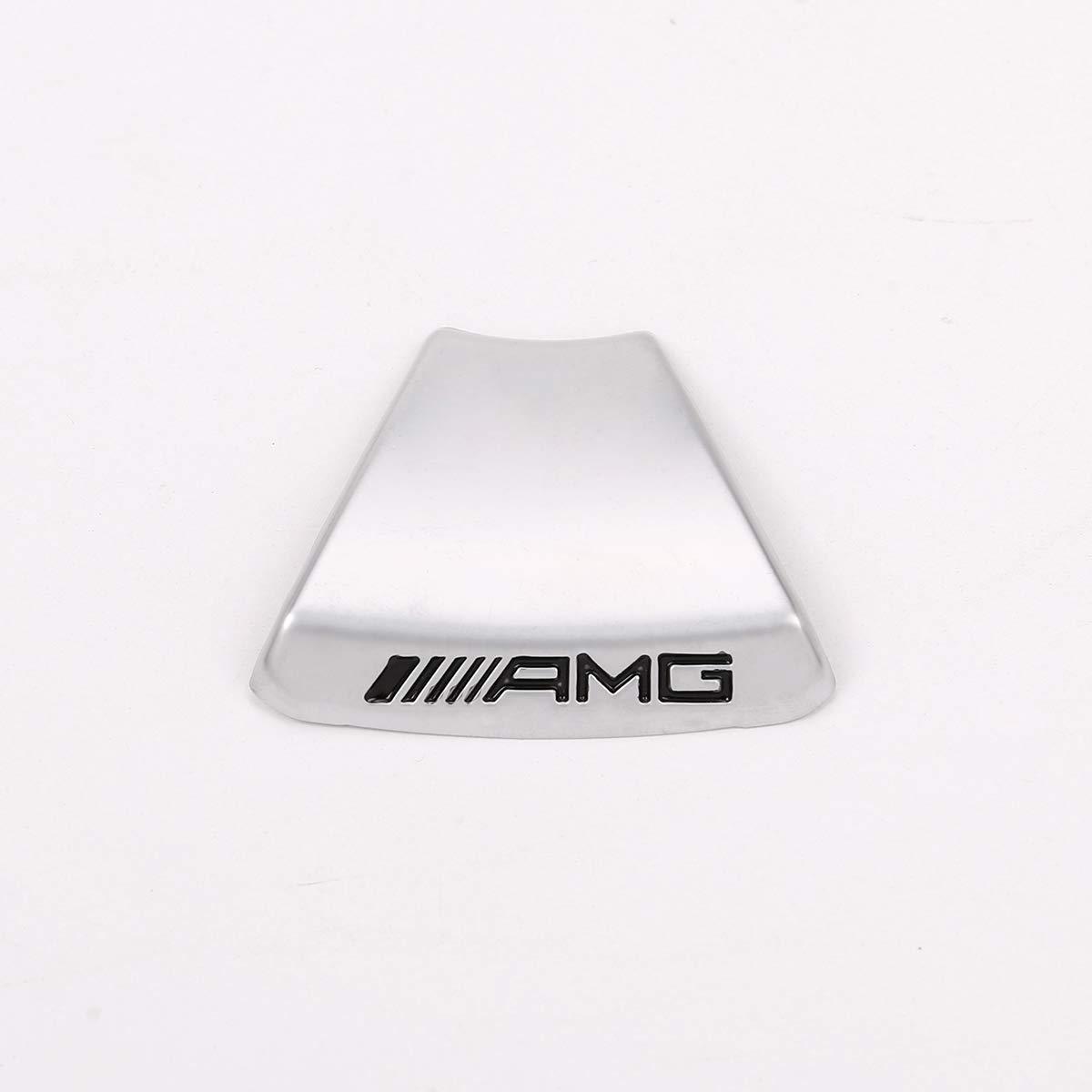 B dise/ño de logotipo AMG para Benz A clase GLA GLC GLE GLS W213 W205 x 253 Yiwang C Adhesivo decorativo para volante de aleaci/ón de zinc E