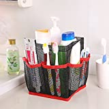 Mesh Shower Caddy Doinshop Hanging Storage Tote Dorm Bathroom Organizer with 8 Pockets (Red)
