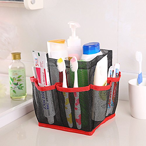 Mesh Shower Caddy Doinshop Hanging Storage Tote Dorm Bathroom Organizer with 8 Pockets (Red) by Doinshop