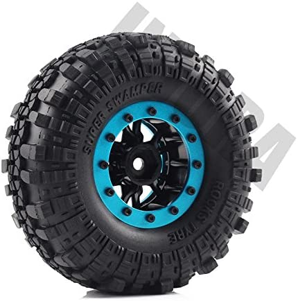 Rubber Grappler Reifen Plastic Wheel mit Rubber Reifen f/ür RC Car Tbest 4pcs RC Crawler Reifen