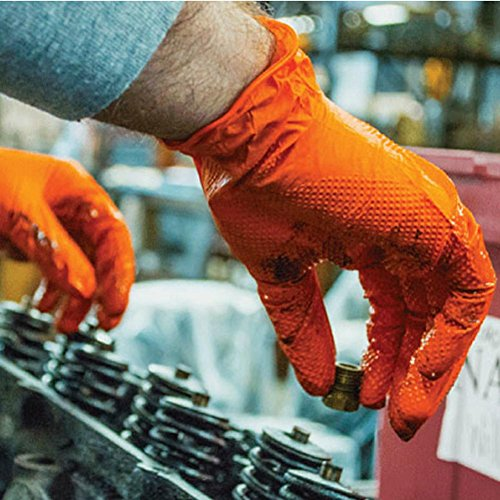 Disposable rubber gloves thickening anti-oil latex labor insurance tools to work anti-stains / 50 pairs by LIXIANG (Image #1)