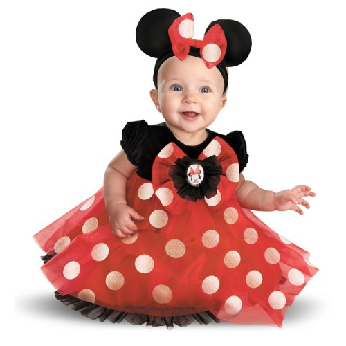 Disguise My First Disney Red Minnie Costume, Black/Red/White, 6-12 Months (Baby Halloween Costume Minnie Mouse)