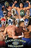 Trends Intl. Lucha Libre Tecnicos Poster, 24-Inch by 36-Inch