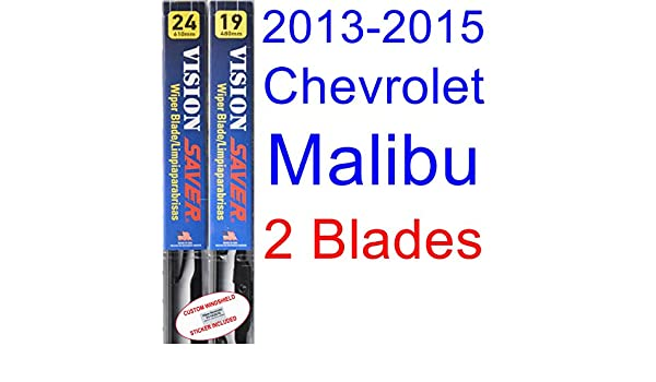Amazon.com: 2013-2015 Chevrolet Malibu LTZ Replacement Wiper Blade ...