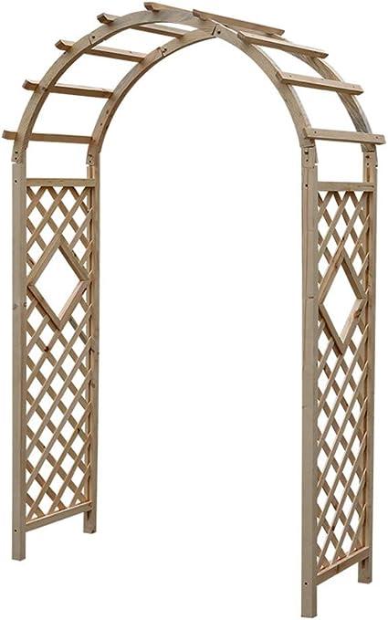 XLOO Garden Arch, Wood Arbor Arch Outdoor Trellis, Abeto ...
