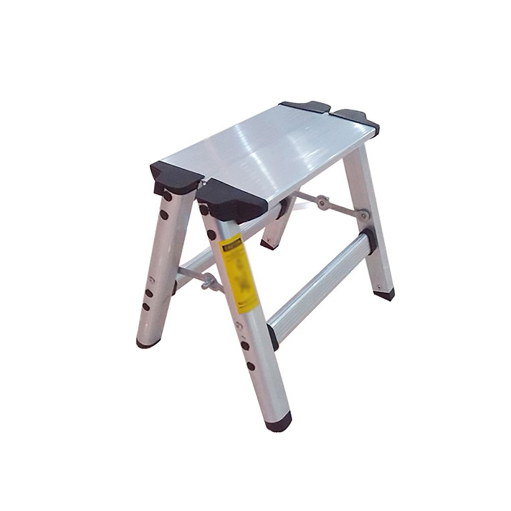 ZXL Fold 2 Steps Ladder Aluminum Alloy Thicken Household Bench Ladder Foot Stool Step Stool