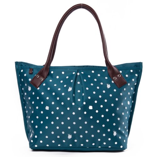 Print Yq Blue Capacity Tote Women's Dots Big Ladies Sweet Handbags xxEzBwP