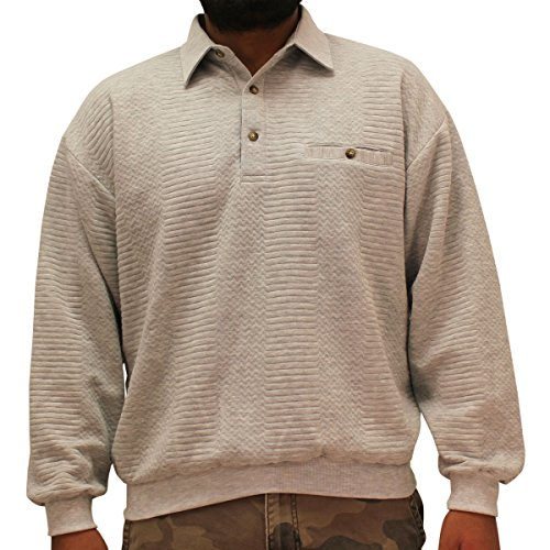 Palmland L/S Solid Textured Banded Bottom Shirt (Textured Classic Shirt)
