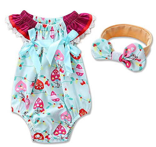 Off With Her Head Costume (Newborn Baby Girls Boys Casual Romper Jumpsuit One-pieces with Headband (0-6M, Multi))