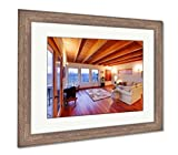 Barn Wood Coffee Tables for Sale Ashley Framed Prints Modern Luxury Living Room With Wood Ceiling, Wall Art Home Decoration, Color, 34x40 (frame size), Rustic Barn Wood Frame, AG6537316