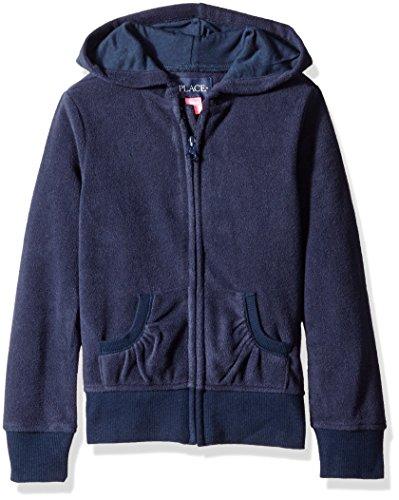 The Children's Place Big Girls' Uniform Microfleece Jacket, Tidal, Medium/7/8