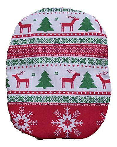 stomy Bag Cover Christmas Stripes Red Green ()