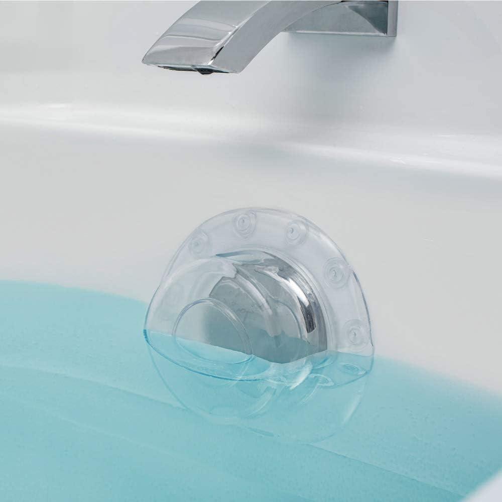 SODIAL 2 Paket Badewanne /üBerlauf Abfluss Abdeckung Saugnapf Dichtung Bade Wanne Stopper f/ür Tieferes Bad f/ür Badezimmer /üBerlauf Abfl/üSse