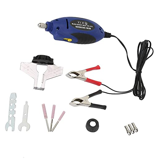 Grinder ChainSaw Grinding Tool Electric Grinding Tools with Lithium Battery Quick Efficient Practical Tools 55W Chainsaw Sharpener Kit Kecheer Handheld Portable Chains Grinding Machine