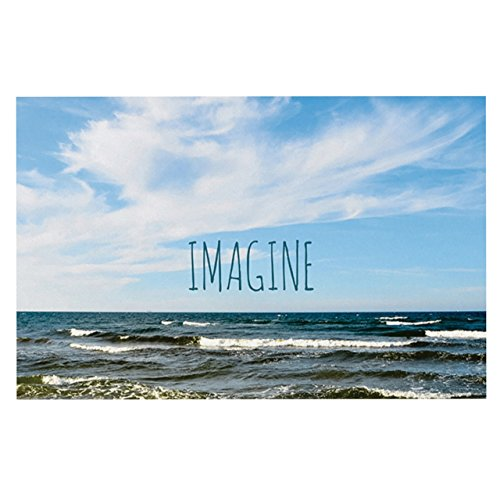 """lovely Kess InHouse Iris Lehnhardt """"Imagine"""" Beach Sky Feeding Mat for Pet Bowl, 24 by 15-Inch"""