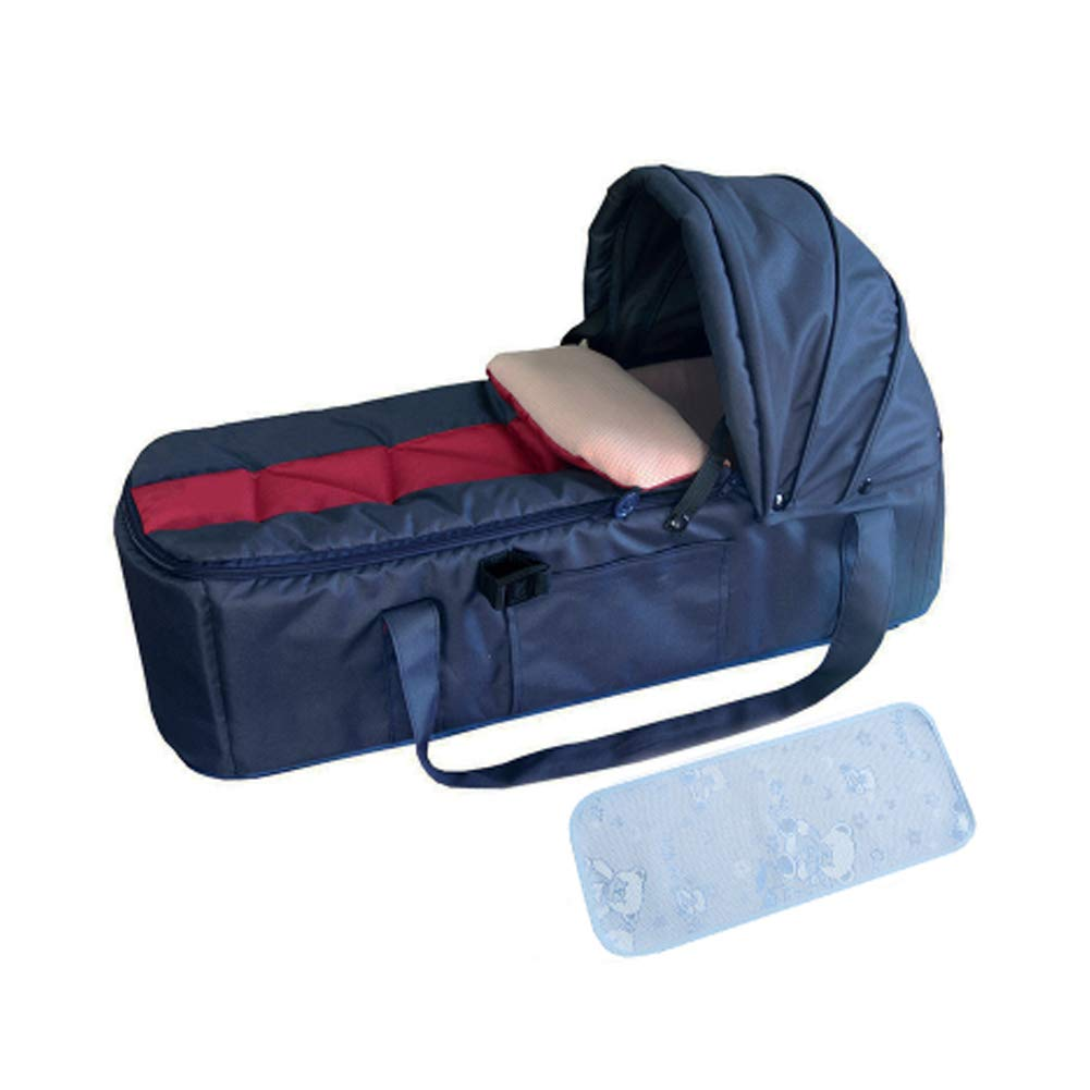 Whthteey Portable Bassinets Washable Baby Basket for Outside Activities (Dark Blue)