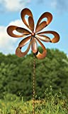 Ancient Graffiti Kinetic Floral Cutout Spinner, Brown, 87''H