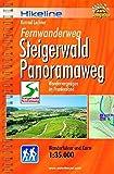 Hikeline Fernwanderweg Steigerwald Panoramaweg (Frankenwald) 160 km: Wandervergnügen in Franken - Wanderführer und Karte 1: 35.000, wetterfest