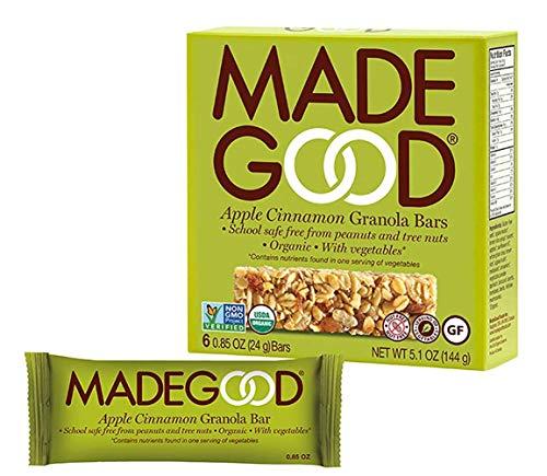 (MadeGood Granola Bars, 2 Pack (12 bars) (Apple Cinnamon) )