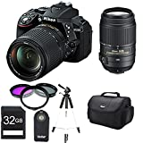 Nikon D5300 DX-Format 24.2MP DSLR Camera 18-140mm and 55-300mm Pro Lens Bundle (Black) - Includes Camera, 55-300mm Lens, 32GB SD Memory Card, 58mm Deluxe Filter kit, Wireless Shutter Release Remote Control, Carrying Case, and 59