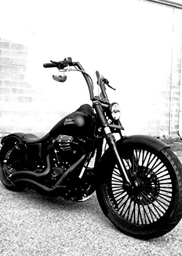 JBSporty ♤ Harley Davidson Dyna ♤ Black out Vinyl Decal Fork Kit ♧ Fat Bob Street Bob Custom Low Bobber ()