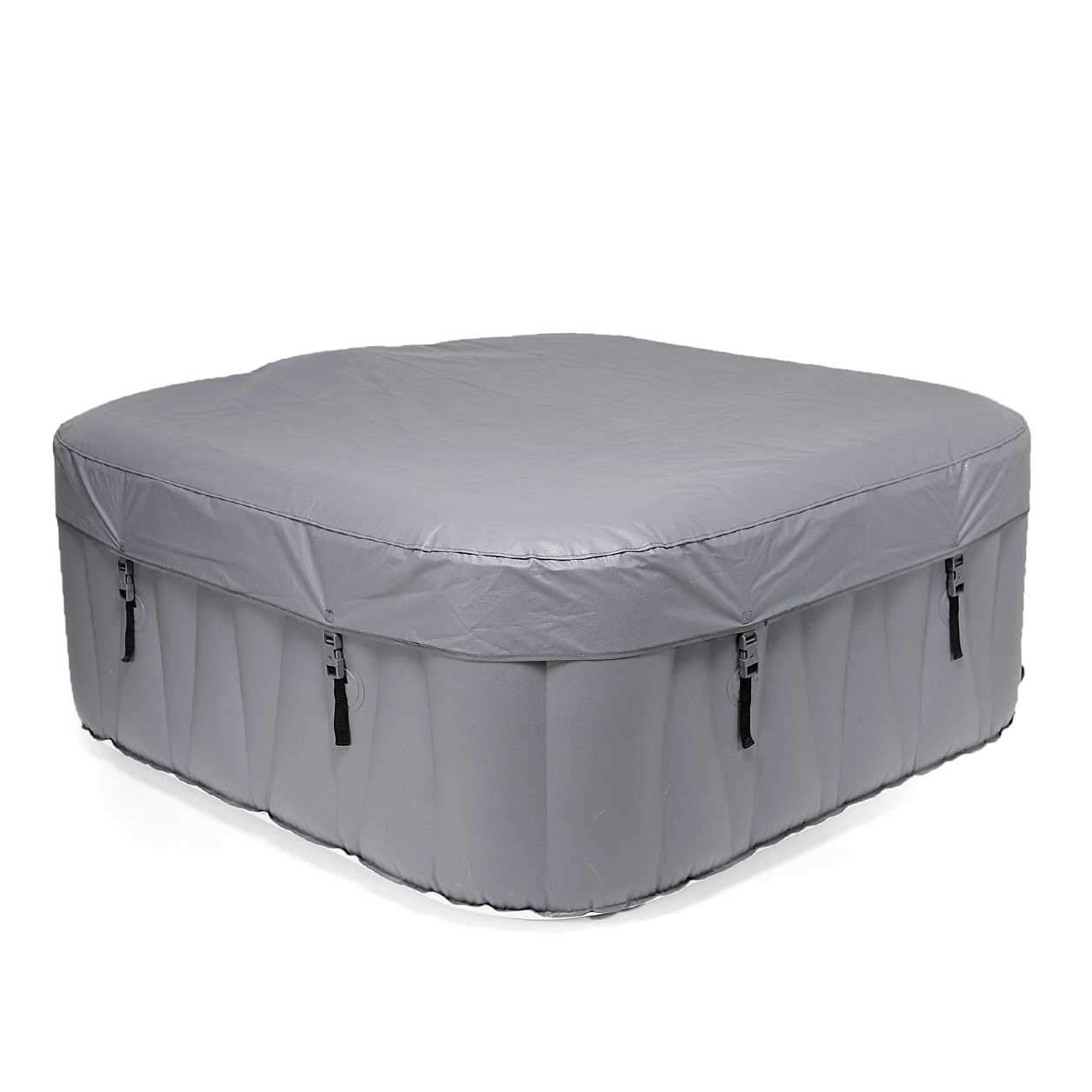 WAVE Spa Pacific Inflatable HotTub, Hot Tub Integrated Heater /& Compressor 2-4 Person, Black