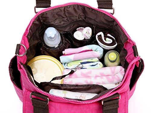 LCY Tote–Bolso cambiador de bebé, de mayor capacidad morado morado rosa